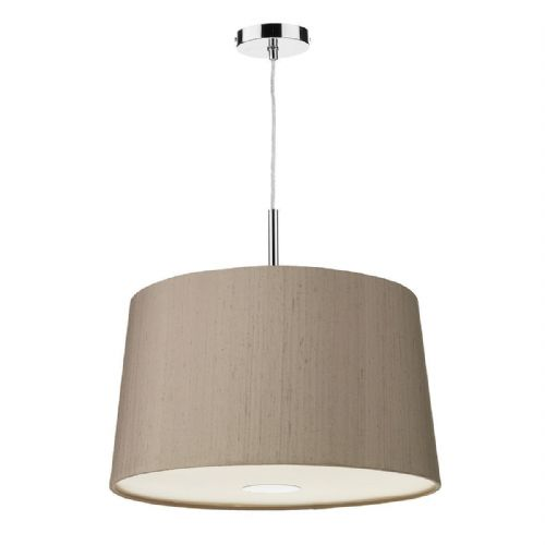 Naseby 50cm Pendant Light Chrome with Shade (choose colour) NAS50 (Hand made, 10-14 day Del)